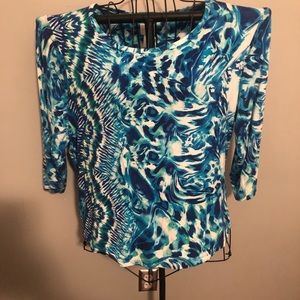 Chico's Size 3 blue print top